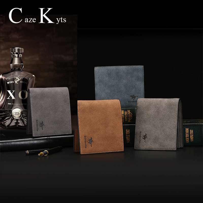 Card Holder Men Wallets Money Bag Retro Short  Purse Genuine Leather Fashion Multi-functional Large Capacity Top Card Package