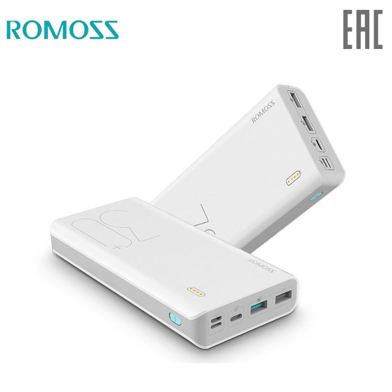 30000mAh ROMOSS Sense 8 + Power Bank Portable External Battery QC two way fast charging portable external Akku|Power Bank| |  - title=