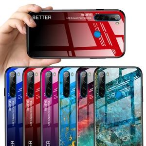Градиентный чехол из закаленного стекла для Redmi Note 8t, цветные Чехлы небесно-голубого цвета для Xiaomi Ksiomi Cc9 Pro Note 10 Note8t Note10 Coque