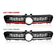 GOLFLIATH For V-W Golf MK7 Front Center Grille Black Chrome ABS Radiator Hood Upper Grill for golf 7
