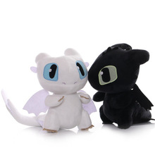 DISNEY Dragon 3 Toothless Anime Figure Night Fury Light Fury Toys Dragon Plush Toy Dolls 20cm
