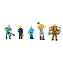 scale model color railway workers in 100pcs 1:50 diorama miniature train abs plastic worker for architecture