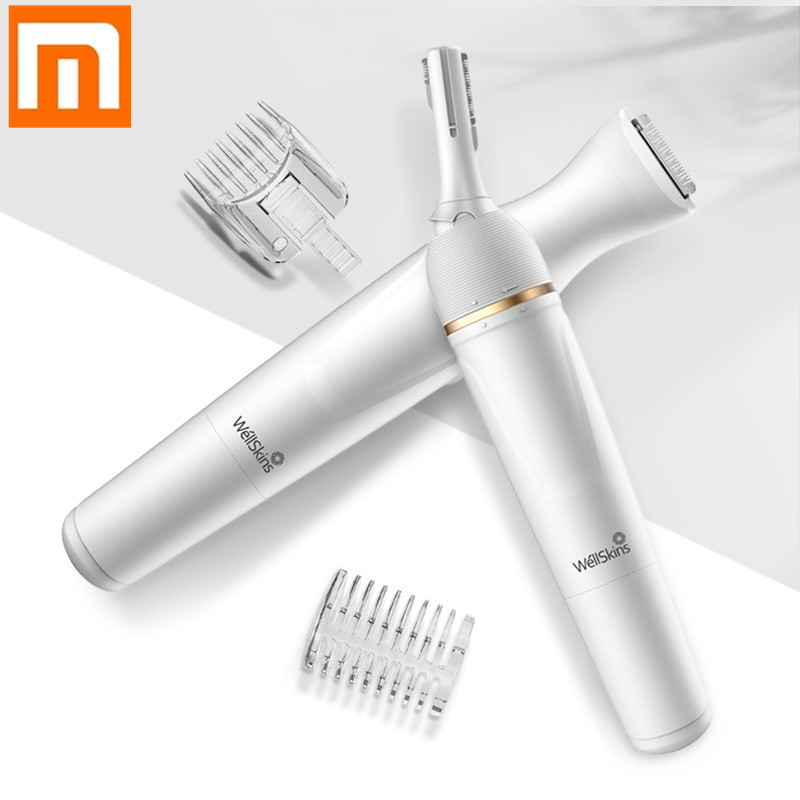 Xiaomi Wellskins Wet Dry Shaver Female Epilator Shaving Machine Lady Hair Removal Trimmer Two Speed Ceramic Cutter Hair Clipper