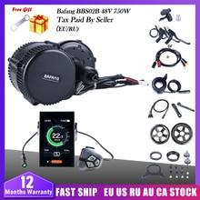 Ebike kit de conversão bafang bbs02b 750w 48v bicicleta motor elétrico bafang mid drive kit motor bbs02 e bicicleta 8fun motor