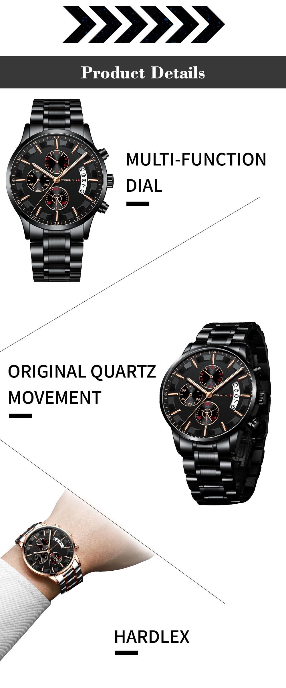 esportes relógio cronógrafo dos homens relógio casual