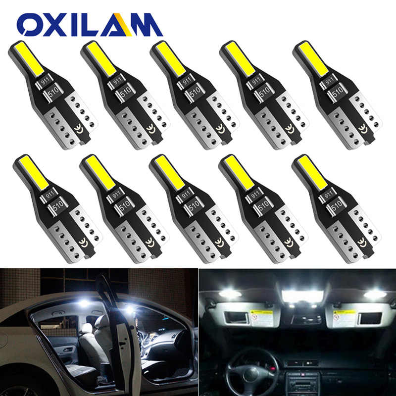 10x W5W T10 LED Car Lights for Lada Vesta Granta Kalina Niva Renault Duster Megane Auto Interior Light Dome Trunk Parking Lights