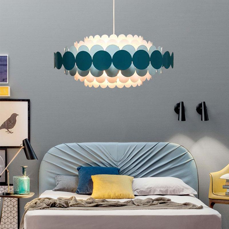 Современная люстра круглая люстра в форме морской раковины гостиная спальня синий/красный/черный люстра спальня бар Внутреннее освещение