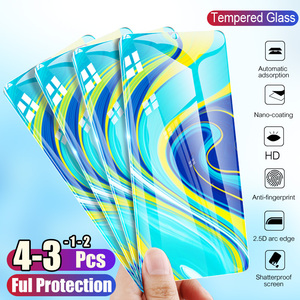 Image 2 - 1/2/3/4Pcs Tempered Glass For Xiaomi Redmi Note 9S 9 Pro Max Screen Protector Protective Glass For Redmi Note 8t 8 8A 7 7A 6A 5