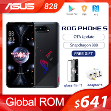 Teléfono ASUS ROG 5 ROM Global, Snapdragon 888, 128/256GB, Android 11, 6000mAh, pantalla de 6,78 pulgadas, carga rápida, 65W, ROG5