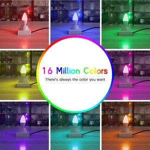 Image 5 - G LED OPTO zigbee led ampoule intelligente 4W E12/E14 dimmable RGBCCT Ambiance ampoules décoratives de bougie compatibles avec Amazon Echo Plus ca