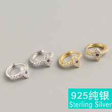 Street shot hipster eye ear clip S925 sterling silver suit spiral magic