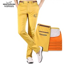 New Fleece winter men Pants Business Casual Washed  Male Trousers Cotton Embroidery  High Quality Plus Size 40  9179