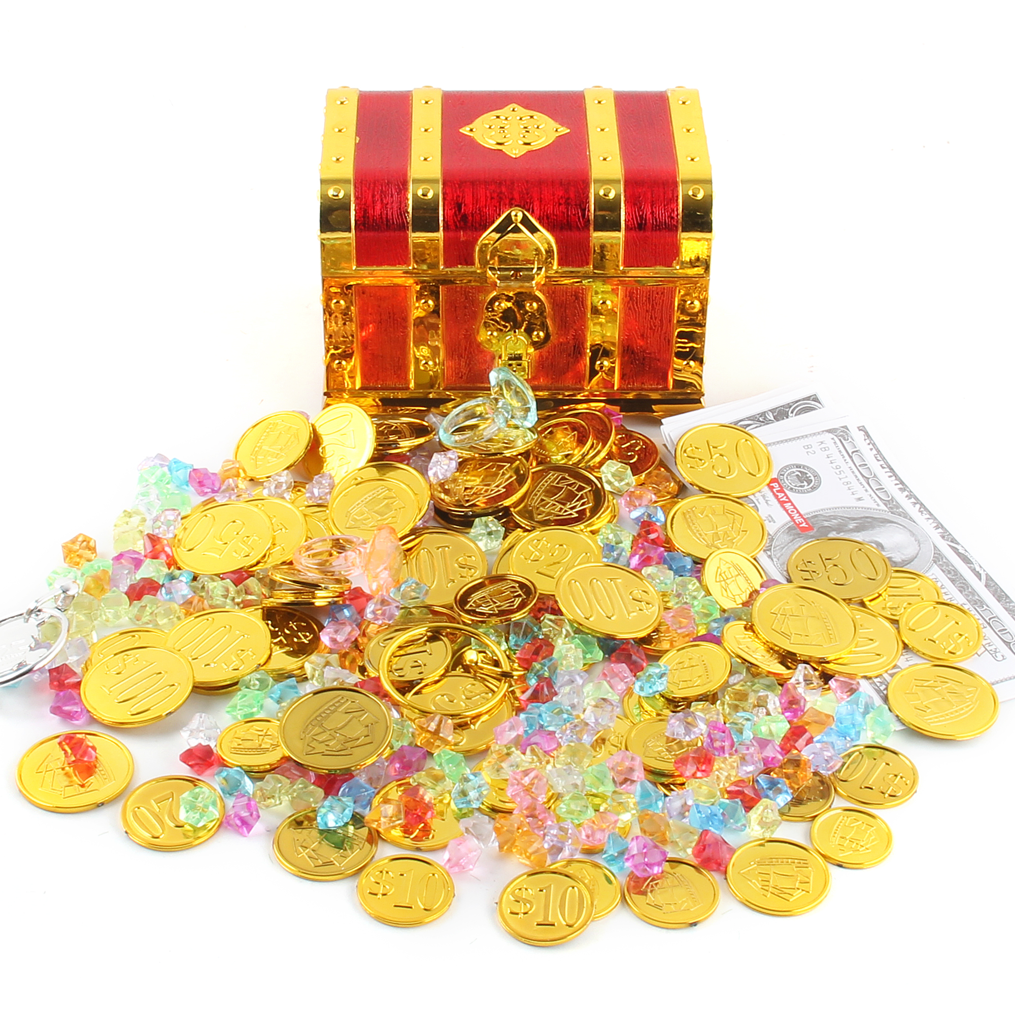 100pcs Plastic Pirate Gold Coins Colorful Gold Treasure Coins For Play Favor Party Supplies Pirate Party Treasure Hunt Game