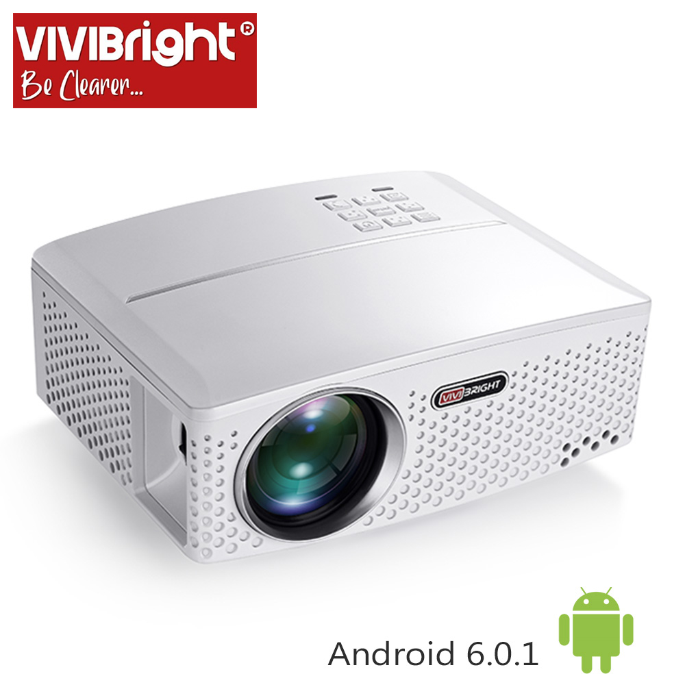 VIVIBright Räumung LED Projektor GP80UP, Eingebaute Android, Bluetooth WIFI, Haben auf lager in Brasilien, Russland