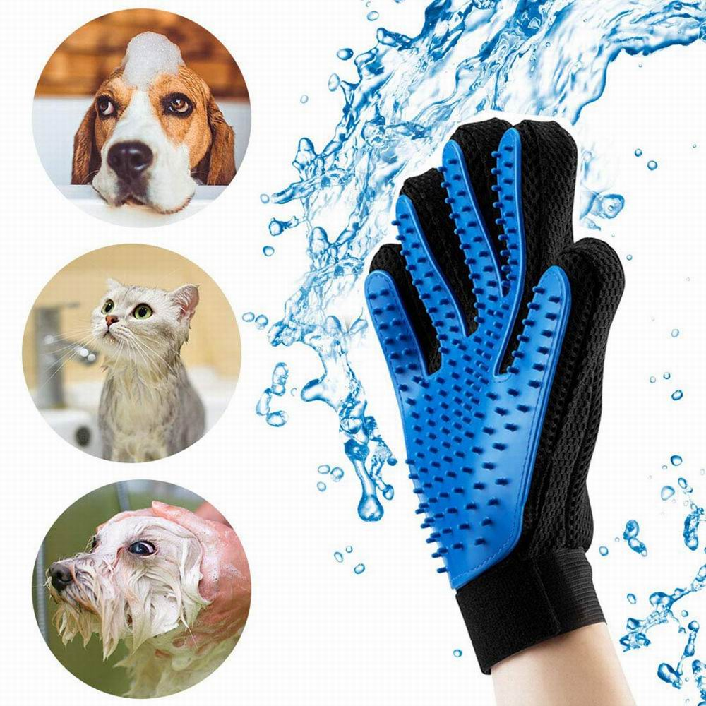 Pet Soft Silicone Dog Pet brush Glove Grooming Brush Pet Grooming Glove Cat Bath Cat cleaning Supplies Pet Glove Cat combs bed making tools