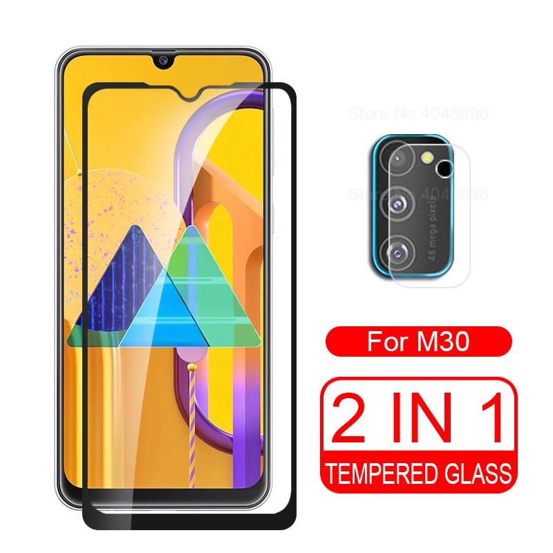 2in1 Tempered Glass For Samsung M30s Camera Lens Protector For Samsung Galaxy M30s M 30 S 30s M307 Protective Glass Back Cover