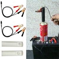 Injector de combustível do carro flush cleaner adaptador conjunto de ferramentas de limpeza bocal kit diy conjunto de ferramentas de limpeza veículo 2 bocais
