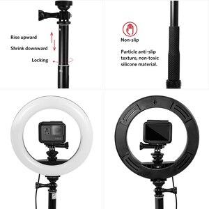 Image 3 - Anordsem New Design Accessories for Gopro Fill Light Led Ring Light Lamp+Monopod Tripod for Gopro Hero 8 7 6 5 for YI DIJ EKEN
