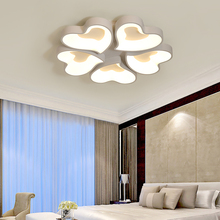 Living room simple modern LED ceiling lights master bedroom lighting wood art stepless dimming acrylic round lamps