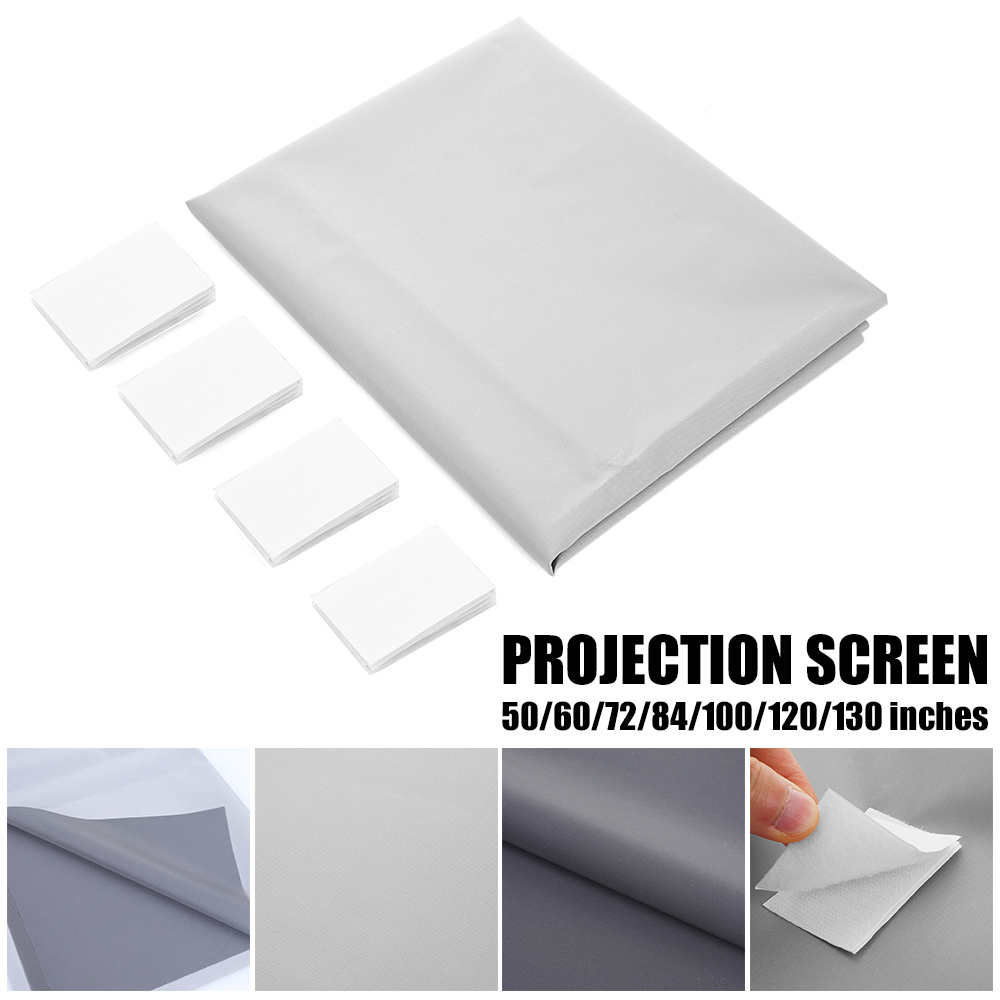 UNIC Universal 16:9 Projection Screen <font><b>50</b></font> 72 84 100 <font><b>120</b></font> 130 inch Reflective Fabric For Epson BenQ XGIMI LCD DLP Projector 4K image