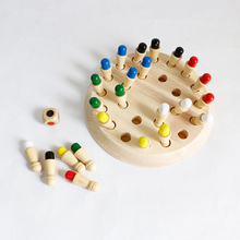 цена на Kids Wooden Memory Match Stick Chess Game Fun Block Board Game Educational Color Cognitive Ability Toy For Children educational