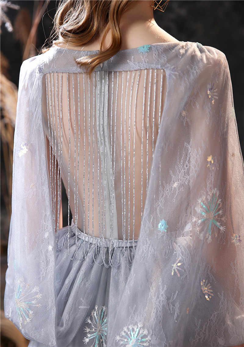 Элегантные серые трапециевидные платья длиной до пола для выпускного вечера в наличии без рукавов и с молнией сзади с бисером Vestidos De Cóctel