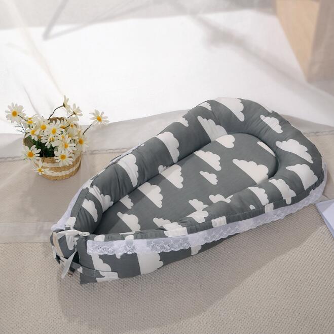 Дорожная кроватка матрас для детской кровати спальная корзина мягкий хлопок гнездо портативная кроватка постельные принадлежности подушки открытый Дети Уход YAN007 - Цвет: YAN007F
