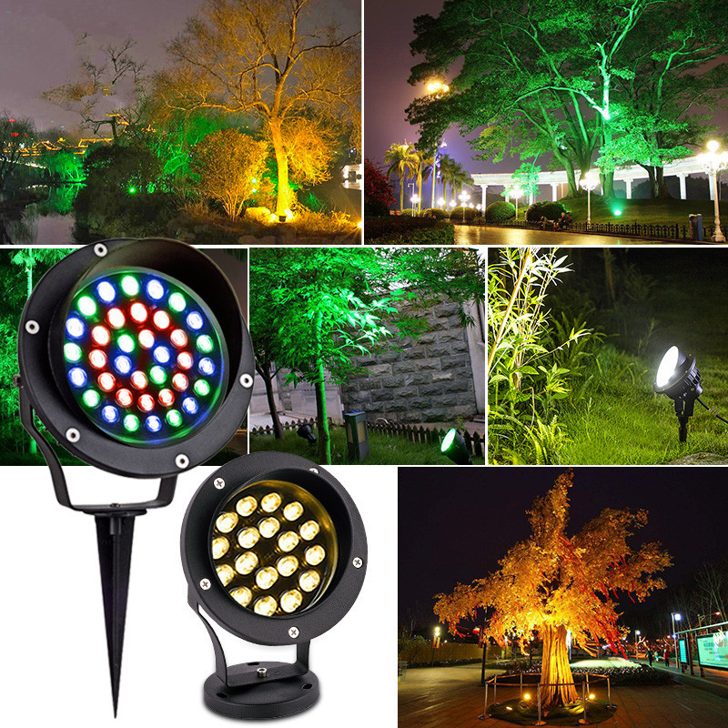 Solar Yard Lights Outdoor 3W Bulbs backlight Tree light Landscape Spotlights Waterproof for Patio Lawn Pool Yard Garage Garden