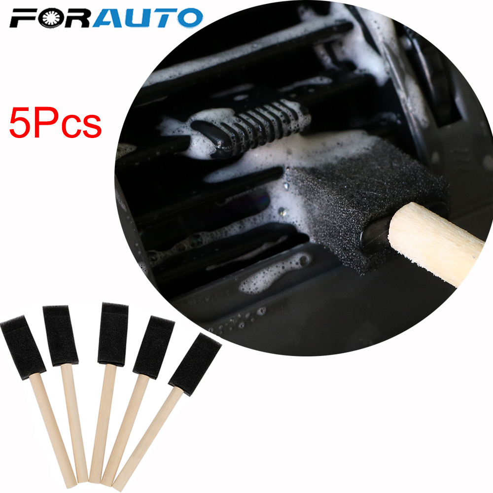 5Pcs/set Car Air Conditioner Vent Brush Car Grille Cleaner Auto Detailing Blinds Duster Brush Car-styling Auto Accessories