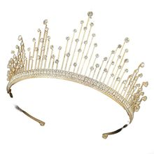 Wedding Crown for Bridal Headpiece Gold  Baroque Crystal tiaras and crowns Bride tiara Wedding Hair Accessories цена 2017