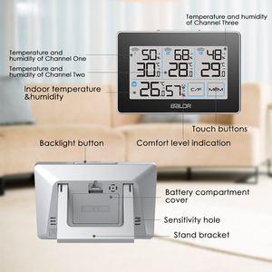 Image 5 - Baldr CD Thermometer Temperature Meter Weather Station tester + 3 Wireless Outdoor Transmitter Humidity Sensor Monitor