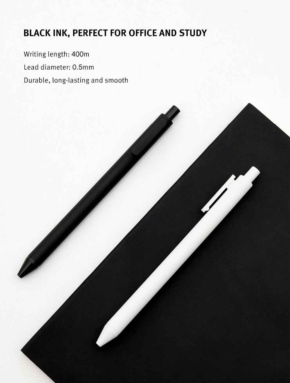 Asli Xiao Mi Kaco Roller Mi Penandatanganan Pena Gal Tinta Menulis Halus Tahan Lama Penandatanganan Hitam Isi Ulang 1 Pcs Eceran 0.5 MM