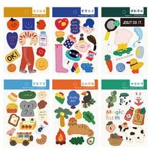 10 видов Красочные мультфильм водонепроницаемые наклейки для скрапбукинга DIY телефон неделя журнал альбом дневник счастливый план украшения ПВХ наклейки