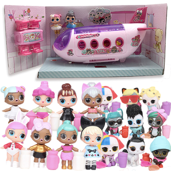 Genuine LOL Surprise House Doll Original Dolls Airplane Toys Anime Figures Plane Model Collection DIY Birthday Gifts for Girl eaki genuine diy surprise doll toy plastic toys diy toy princess doll for children girl birthday christmas gifts