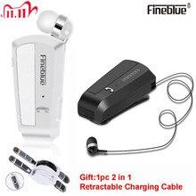 הכי חדש Fineblue F990 נייד עסקים אלחוטי Bluetooth אוזניות טלסקופית סוג צווארון קליפ HD צליל באיכות אוזניות עם מיקרופון