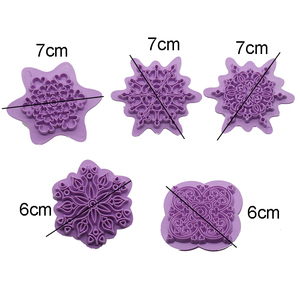 Image 3 - Mandala Lace Pattern Embossing Die Plastic Stamp Polymer Clay Sculpture Texture Stamp Clay Tool 5pcs/set Mandala Dotting Tools
