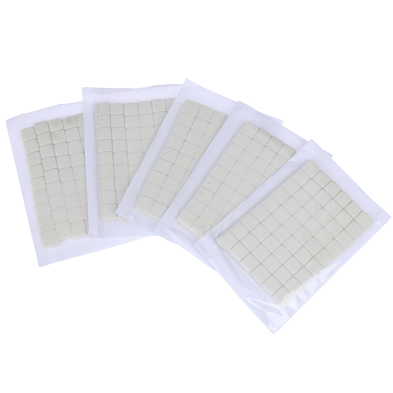 White 90pcs Reusable Adhesive Clay Solid Glue Strip Home Office Removable Adhesive Putty Clay Wall Supplies