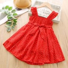 Cool Chiffon Red Dresses for Girls Summer Dress Girl Suspender Vest Dress Summer 2020 Kids Dress Girl Party Wedding Dress Girls