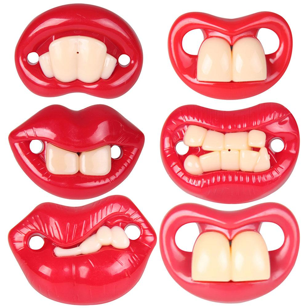 FUNNY BUCKTEETH BIG MOUTH DUMMY NIPPLE BABY PACIFIER SOOTHER TEETHER TOY FUNNY