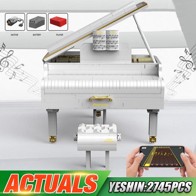 Yeshin The 21323 White Playble Grand Piano Set