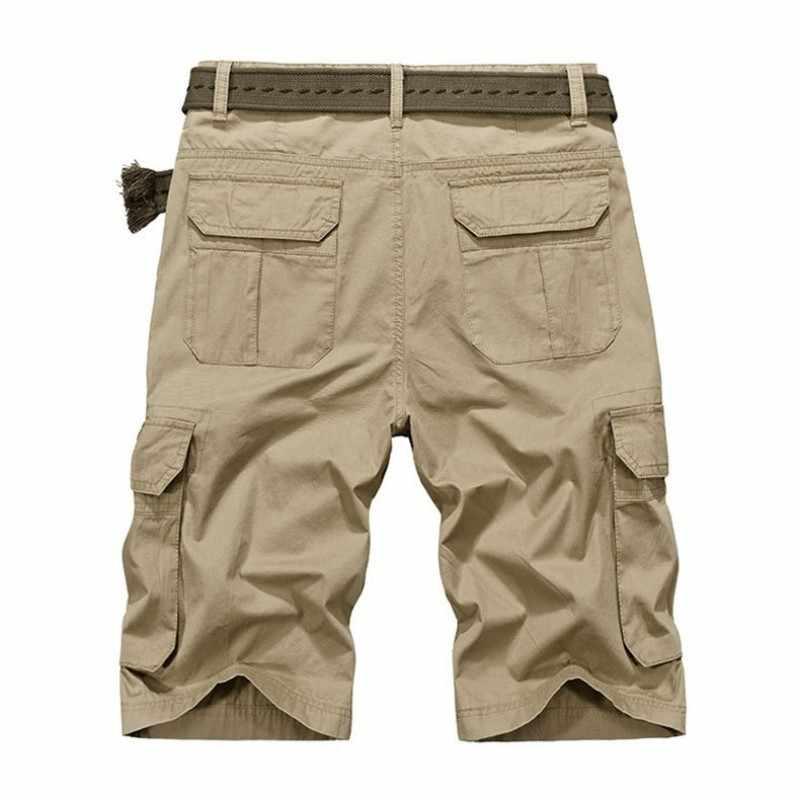 Zomer Heren Knie Lengte Casual Shorts Multi Pocket Safari Stijl Korte Totale Toevallige Streetwear Plus Size 44 Man Strand Shorts