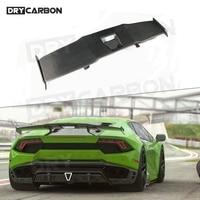 Car Rear Spoiler Racing GT Wings Fit for Lamborghini Huracan LP580 LP610 2014-2018 Dry Carbon Fiber S style Spoiler 1