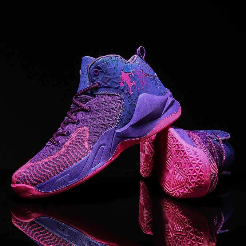 Retro Basketball Shoes Jordan Men Outdoor Sports Basketball Sneakers Breathable Anti-skid Cushioning Jordan Shoes Male Trainers