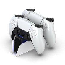 Estación de carga DualSense tipo C para PS5, soporte de carga Dual para PlayStation 5, Mando de juego inalámbrico DualSense