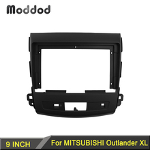 Radio Fascia fit For MITSUBISHI OUTLANDER 2008 2012 9 INCH Stereo DVD Player Install Surround Trim Panel Audio Frame Cover Bezel