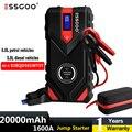 ESSGOO Starting device Car Jump Start Booster Power Bank Car Battery Starter 1600A 20000mAh Emergency Starter-Up For Car