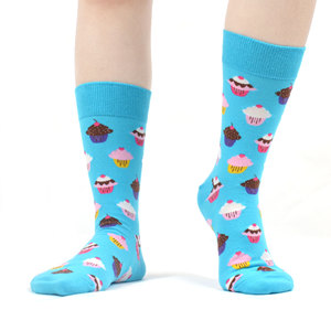 Image 3 - SANZETTI 12 Pair Womens Combed Cotton  Socks Colorful Happy Funny Fruit Lovely Novelty Wedding Bright Gifts Dress Popular Socks
