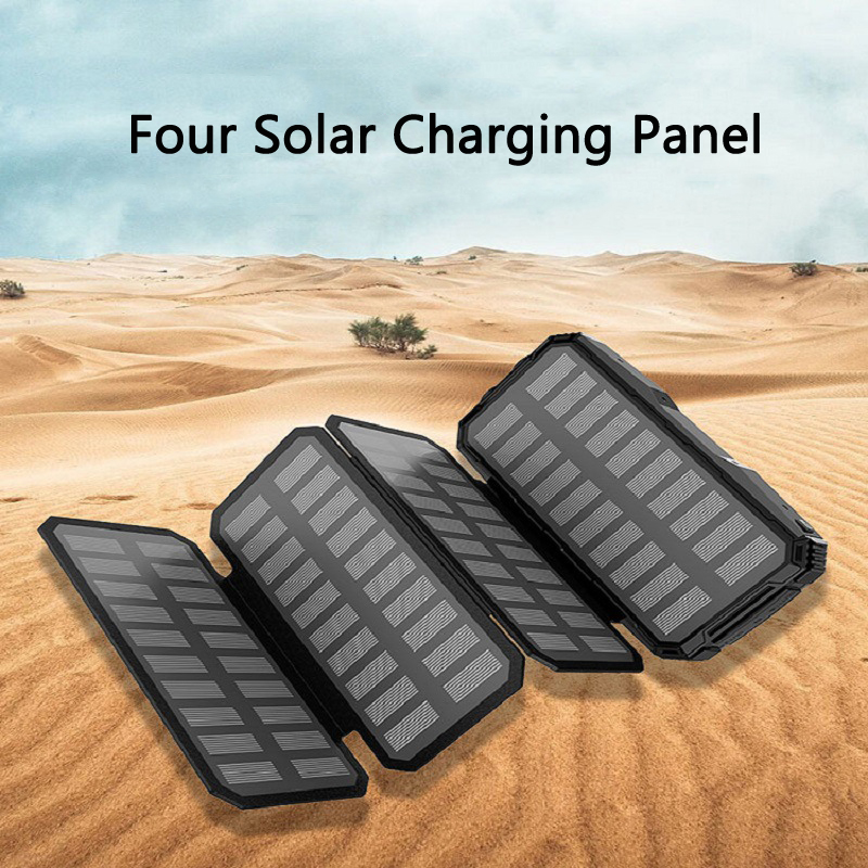 <font><b>20000mAh</b></font> <font><b>Solar</b></font> Powerbank Portable Charger <font><b>External</b></font> <font><b>Battery</b></font> 2 USB Poverbank for iPhone 11 pro X Samsung Xiaomi Phone <font><b>Power</b></font> <font><b>Bank</b></font> image
