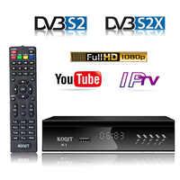 KOQIT K1 Receptor Digital TV Box FTA DVB-S2 Satellite Receiver Tv Tuner IPTV m3u USB Ethernet Wifi Youtube Cline Decoder Biss vu