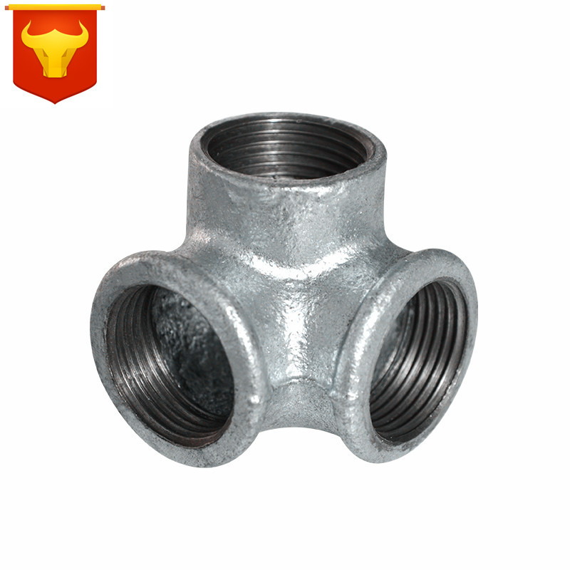 Galvanized Pipe Wall Stereo T-connector 4 Hours And 6 Hours 1-Inch 1.2-Inch 1.5-Inch 2-Inch Vertical T-connector Stereo Stone Sh